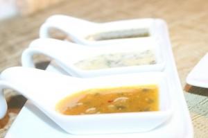 Aderezos: Cilantro, Yogurt y Parchita