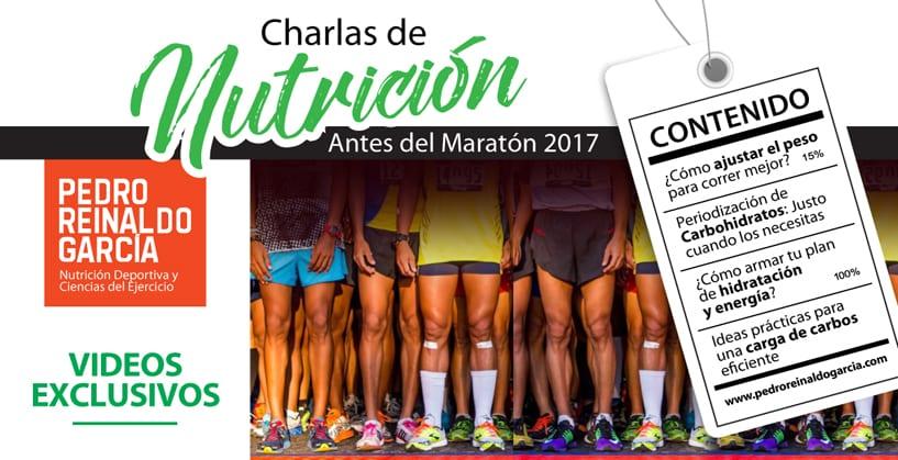 Charlas de Nutrición antes del Maratón